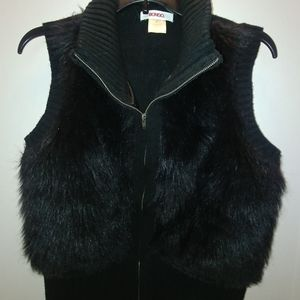 Bongo Faux Fur Sweater Vest
